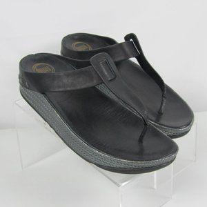 Fit Flop Ibiza Sandals Black Studded Leather Sz 9
